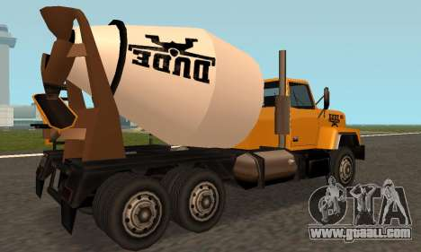 Cement Truck Fixed for GTA San Andreas right view