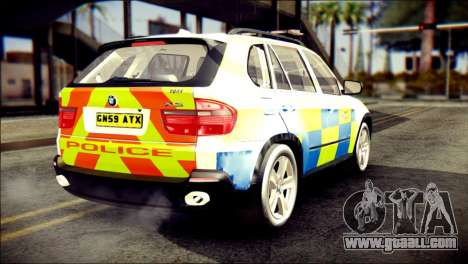 BMW X5 Kent Police RPU for GTA San Andreas left view