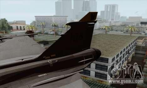 JAS-39 Gripen NG ACAH for GTA San Andreas back left view