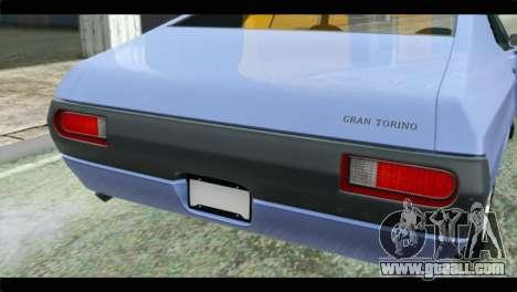 Ford Gran Torino for GTA San Andreas back view
