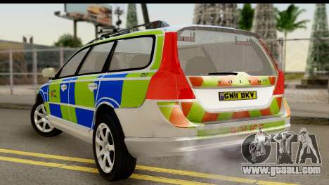 Volvo V70 Kent Police for GTA San Andreas left view