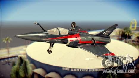 Dassault Mirage 2000-10 Black for GTA San Andreas