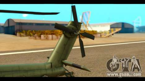 Boeing AH-64D Apache for GTA San Andreas back left view