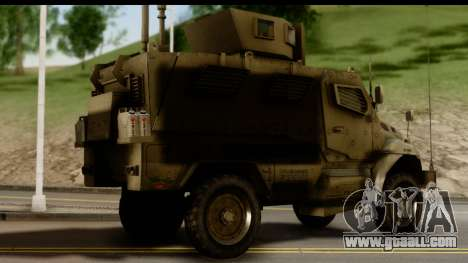 International MaxxPro MRAP for GTA San Andreas left view