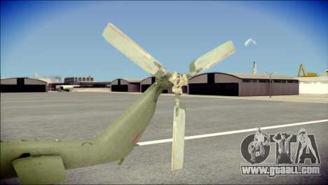 Mil Mi-8 Polish Air Force EUFOR for GTA San Andreas back left view