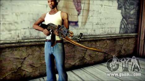 AK-47 Inferno for GTA San Andreas third screenshot