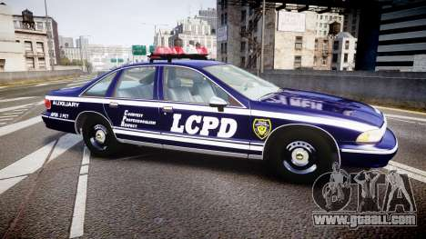 Chevrolet Caprice 1994 LCPD Auxiliary [ELS] for GTA 4 left view