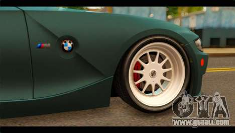 BMW Z4M Coupe for GTA San Andreas back left view