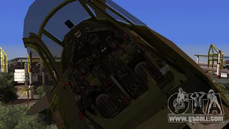 Pokryshkin P-39N Airacobra for GTA San Andreas right view