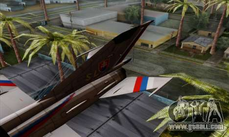 MIG-21MF Slovak Air Force SLP for GTA San Andreas back left view