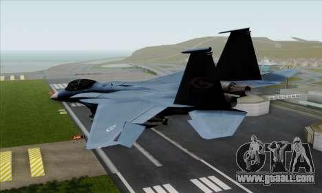 McDonnell Douglas F-15D Eagle GRDF for GTA San Andreas left view