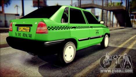 Kia Pride 141 Iranian Taxi for GTA San Andreas left view