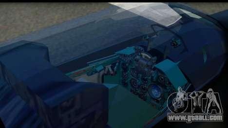 MIG-21F Fishbed B URSS Custom for GTA San Andreas back view