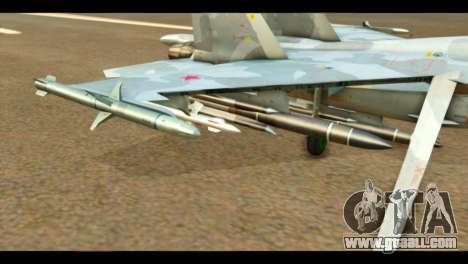 SU-37 Terminator Russian AF Camo for GTA San Andreas right view