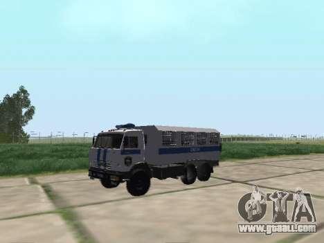 KamAZ-43114 OMON for GTA San Andreas left view