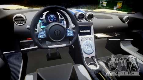 Koenigsegg Agera 2013 Police [EPM] v1.1 PJ1 for GTA 4 inner view