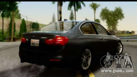 BMW 335i Coupe 2012 for GTA San Andreas left view