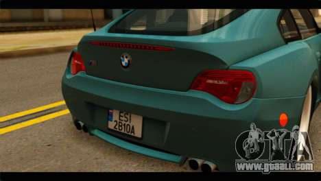 BMW Z4M Coupe for GTA San Andreas back view