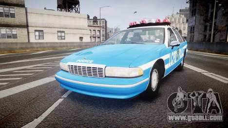 Chevrolet Caprice 1993 LCPD With Hubcabs [ELS] for GTA 4