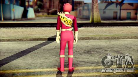 Power Rangers Kyoryu Pink Skin for GTA San Andreas second screenshot