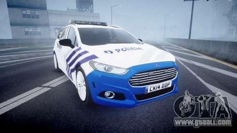 Ford Fusion Estate Belgian Police [ELS] Dog Unit for GTA 4
