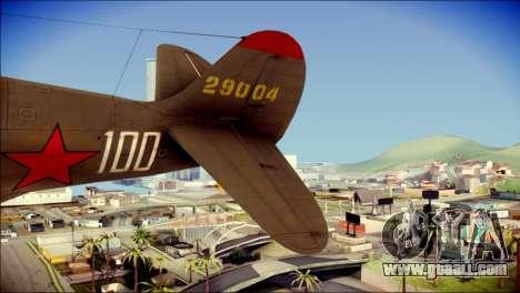 Pokryshkin P-39N Airacobra for GTA San Andreas back left view