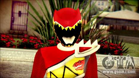 Power Rangers Kyoryu Red Skin for GTA San Andreas third screenshot