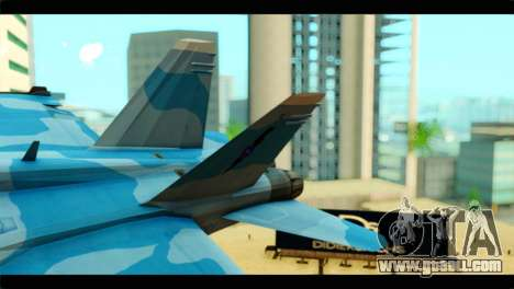 FA-18 Super Hornet Aggressor Squadron for GTA San Andreas back left view