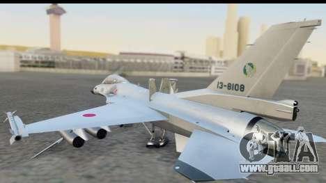 F-2A Zero White for GTA San Andreas left view