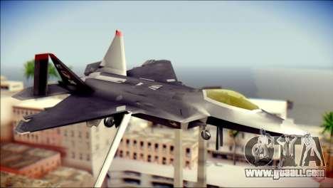 F-22 Raptor Razgriz for GTA San Andreas