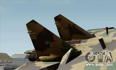 SU-35 Flanker-E ACAH for GTA San Andreas back left view