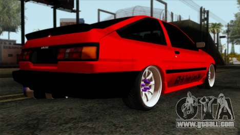 Toyota AE86 for GTA San Andreas left view