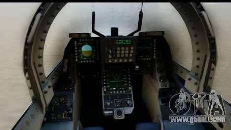 F-2A Zero White for GTA San Andreas back left view