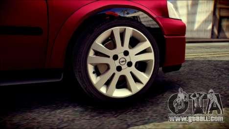 Opel Astra G Caravan for GTA San Andreas back left view