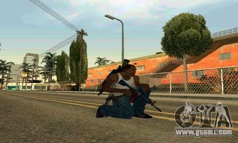 M4A1 Hyper Beast for GTA San Andreas second screenshot