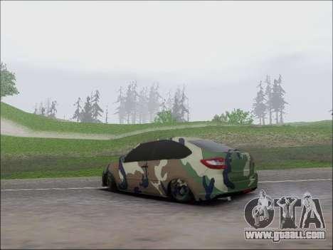 Lada Granta Liftback Coupe for GTA San Andreas back left view