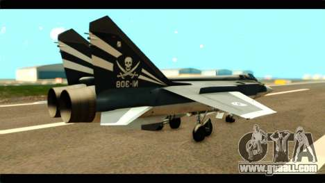 MIG-31 Pirat Squadron for GTA San Andreas left view