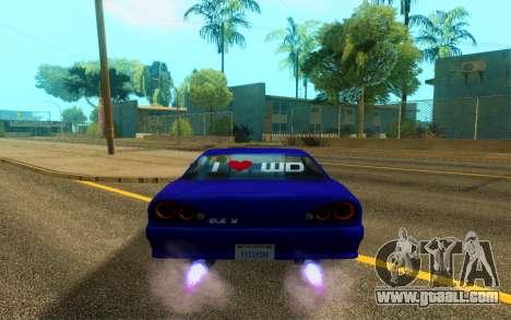 Elegy WorldDrift v1 for GTA San Andreas back view