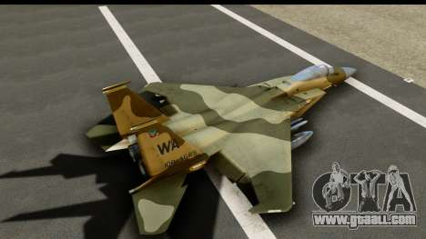 F-15C Eagle Desert Aggressor for GTA San Andreas inner view