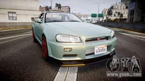 Nissan Skyline R34 GT-R M-Spec Nur for GTA 4