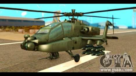 Boeing AH-64D Apache for GTA San Andreas