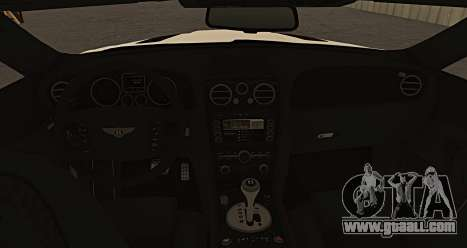 Bentley Continental GT Platinum Motorsport for GTA San Andreas back left view