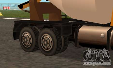 Cement Truck Fixed for GTA San Andreas back view
