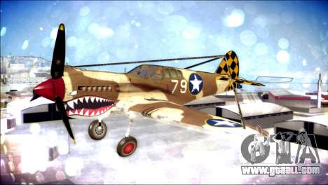 P-40E 325th Fighter Group for GTA San Andreas