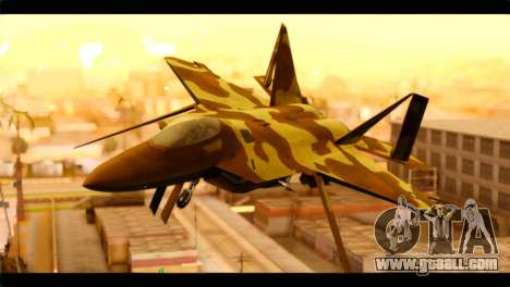 F-22 Raptor Desert Camouflage for GTA San Andreas back view