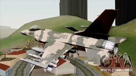 F-16C Top Gun for GTA San Andreas left view