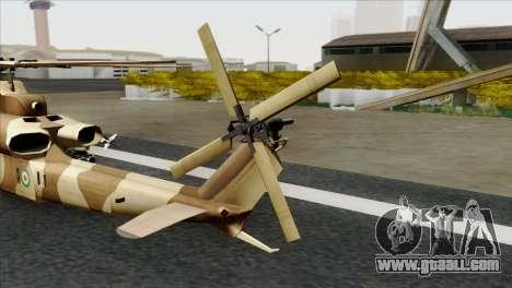 AH-1Z Viper IRIAF for GTA San Andreas back left view