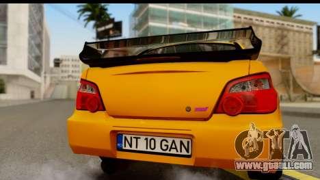 Subaru Impreza WRX STI 2005 Romanian Edition for GTA San Andreas right view