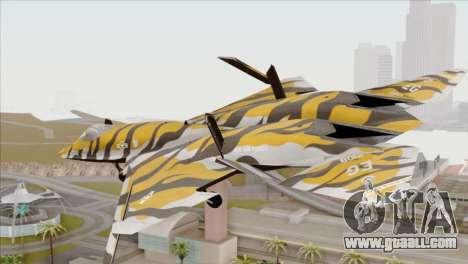 YF-23 Black Widow II Tigermeet for GTA San Andreas left view