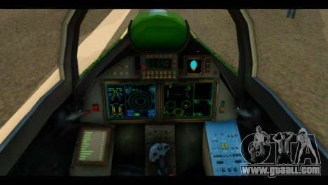 SU-37 Terminator Russian AF Camo for GTA San Andreas back view